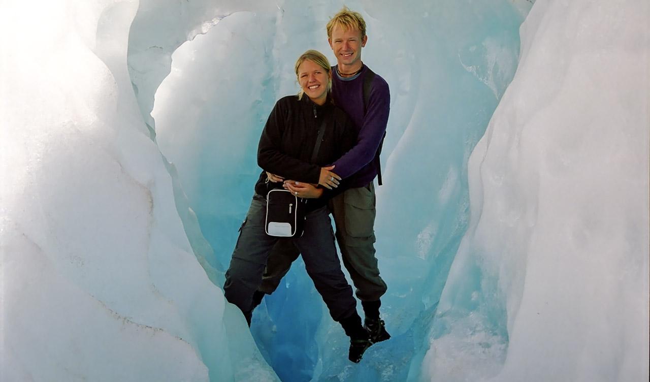 Anki & Lasse uppe på Fox Glacär