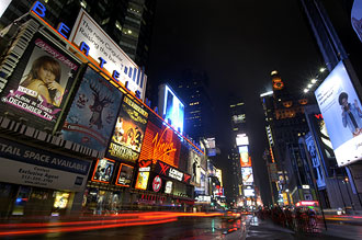 Times Square by night, New York City