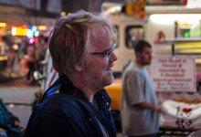 Philip Seymour Hoffman vid Times Square, New York