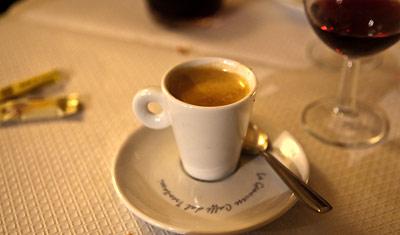Espresso på Il Poeta Ristorante