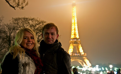 Anki och Lasse på Nyårsnatten, La Tour Eiffel
