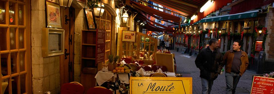 Bryssel restauranggata, Belgien