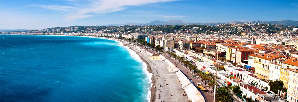 Nice coast, France