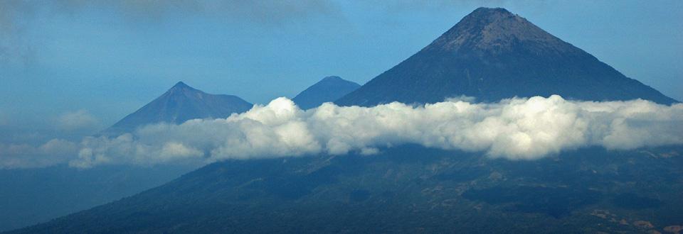 Vulkanlandskap, Guatemala