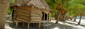 Fale by the paradise beach at Savai'i, Samoa
