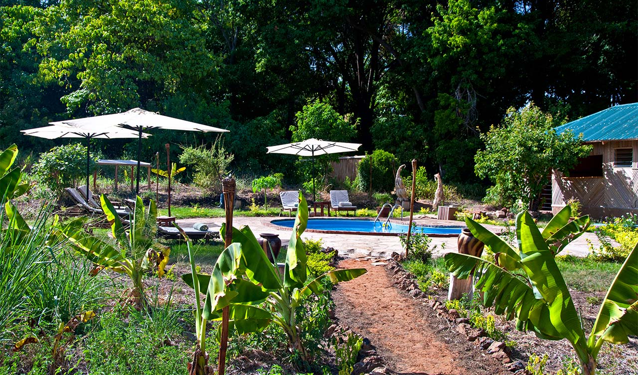 Poolen vid JK Murera Springs Eco Lodge