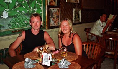Restaurang i Sanur, Bali