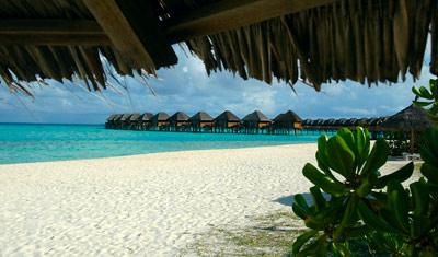 Strand, Vilu Reef, Maldiverna