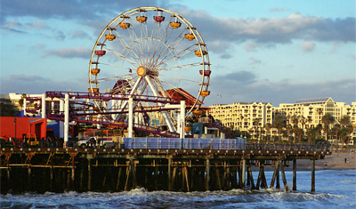 Ferris wheel, Santa Monica pier, Los Angeles