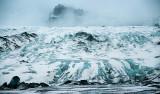 Glaciärtungan vid Sólheimajökull, Island