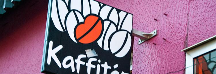 Kaffitar skylt, Reykjavik Island