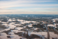 Inflygning över Finland