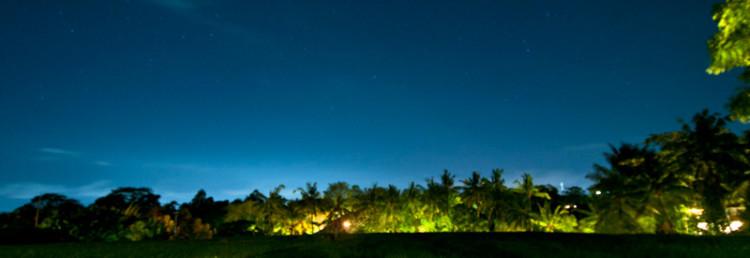 Stjärnor över risfälten vid Arma Resort Hotel,Ubud Bali