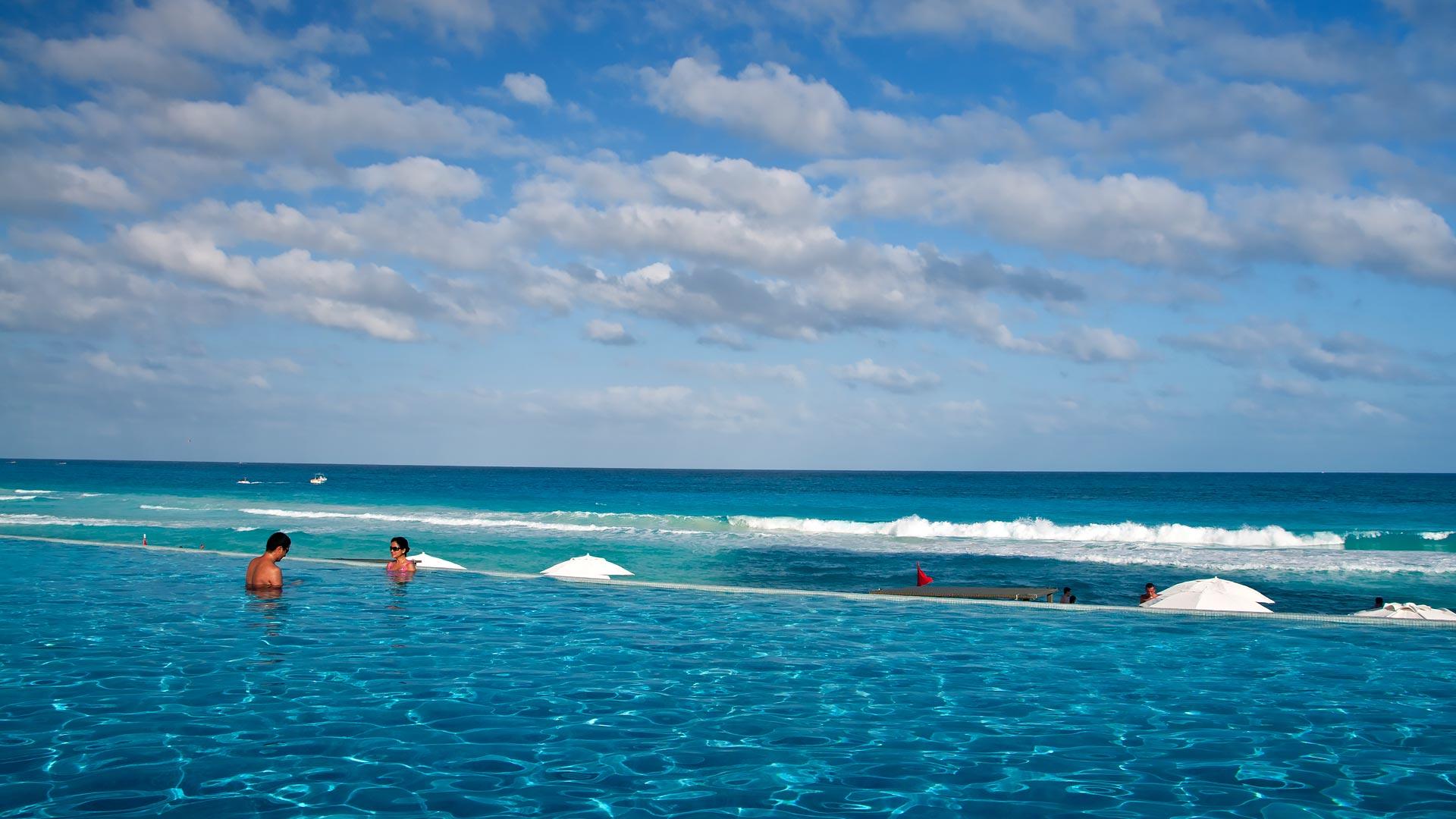 Nyår i Cancún vid Karibiska havet