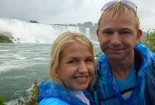 Anki and Lars after Maid of-the Mist Tour, Niagara Falls