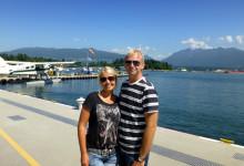Anki och Lasse väldigt nöjda efter en fantastisk flygtur