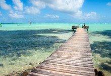 Brygga ut från Sorobon Beach Resort, Bonaire