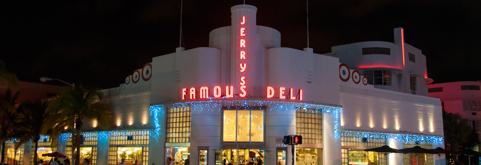 Header - Jerry's Famous Deli, South Beach, Miami