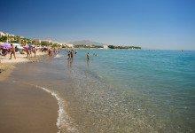 En härlig dag på stranden i Estepona