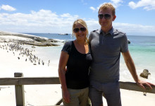 Anki & Lars vid Boulder Beach, Simonstown