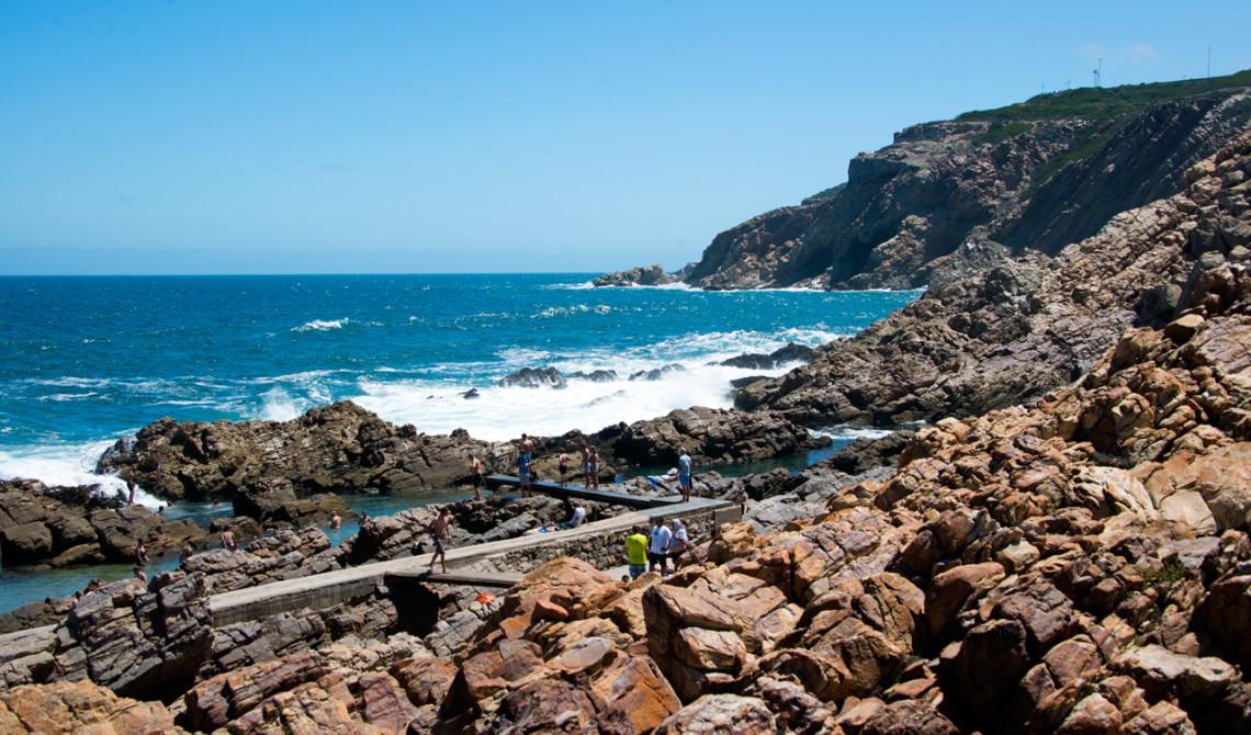 Utsikt från serveringen till Ponto Grille and Carvery i Mossel Bay, Sydafrika