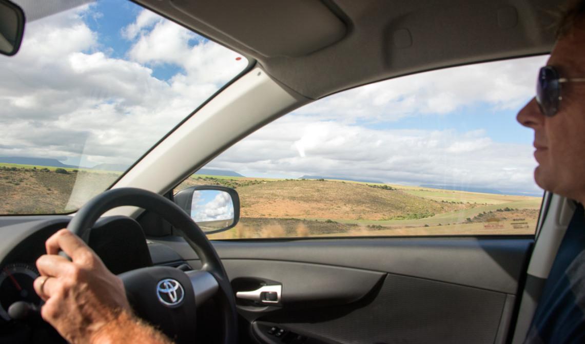 I bilen längs Garden Route, Sydafrika