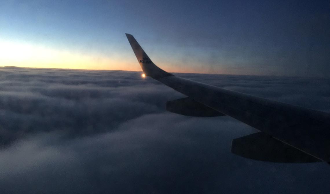 KLM flight tidig morgon
