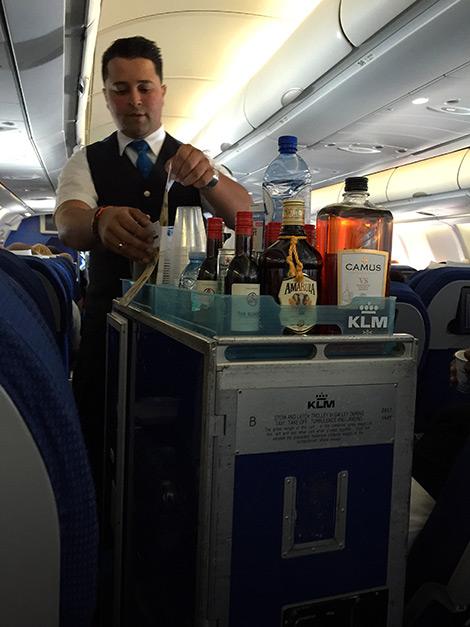 Suverän service från denna kille på KLM flighten