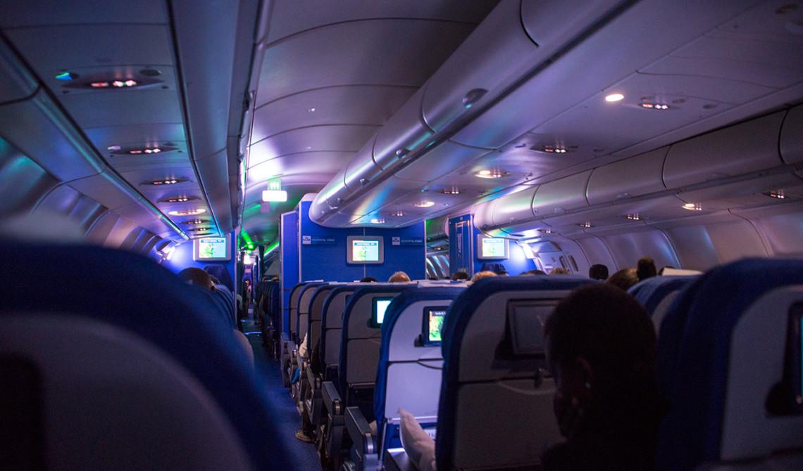Inne på vår KLM flight
