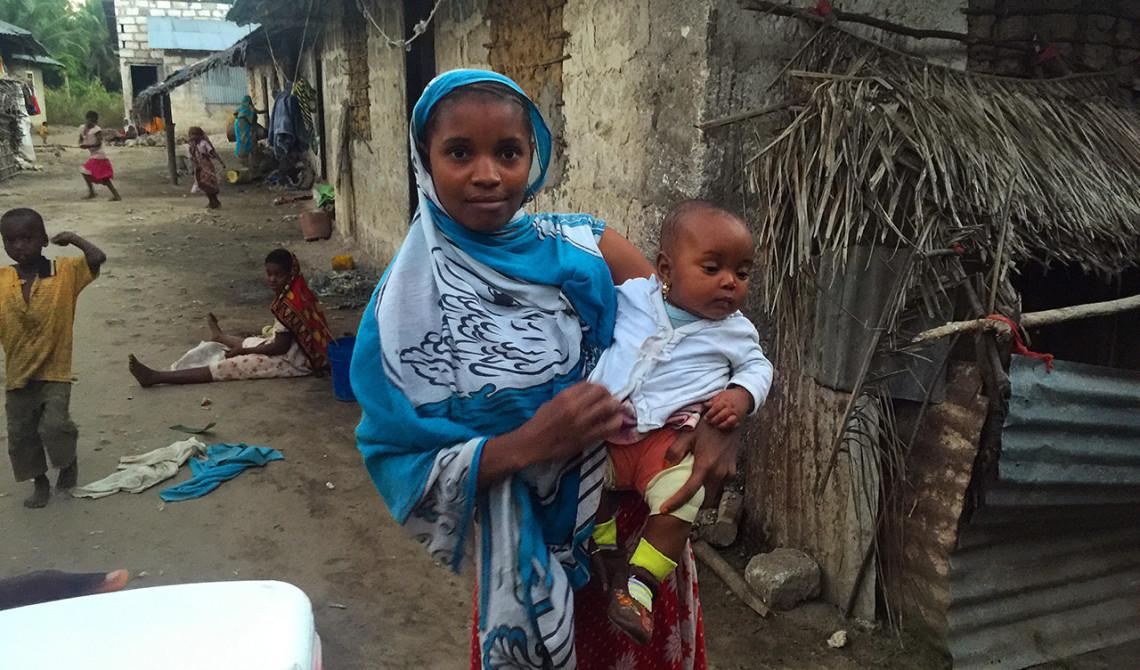 Vår guide presenterade stolt sin fru med deras 4 månader gamla dotter