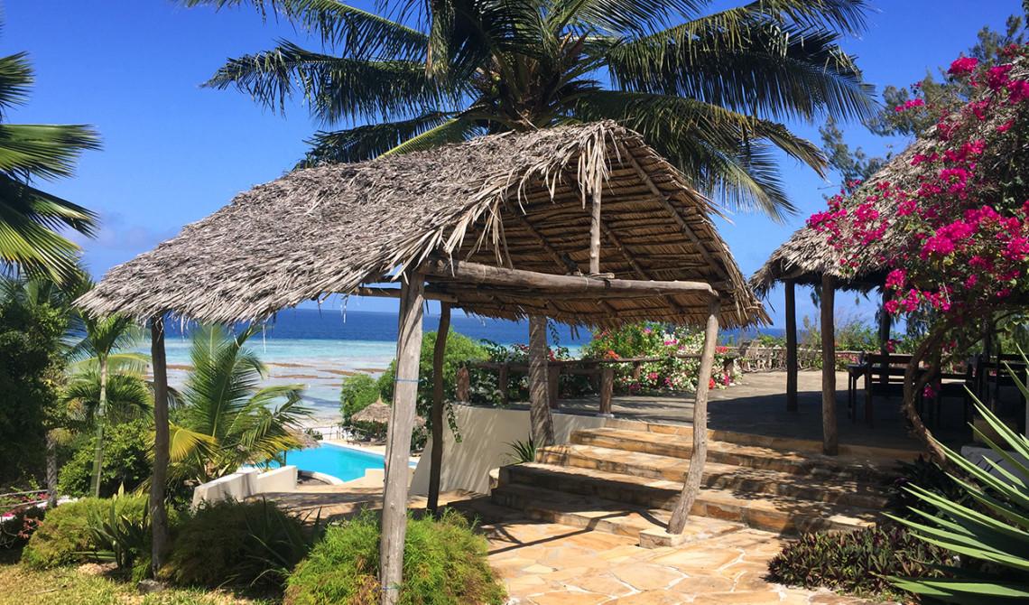Vacker morgon på Manta Resort på Pemba, Tanzania