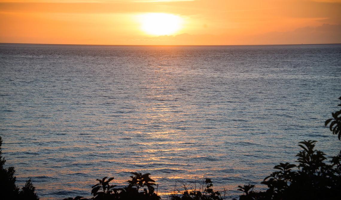 Solnedgång över Pemba