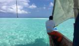 Paradisö av sand i Indiska Oceanen