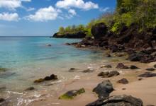 Sista delen av strandbiten, Ti Kaye Resort & Spa, Saint Lucia