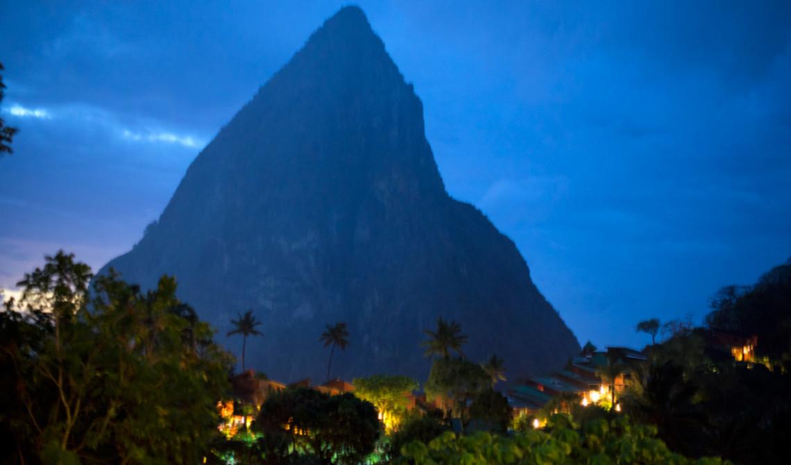 Utsikt från Boucan Restaurant by Hotel Chocolat, Saint Lucia