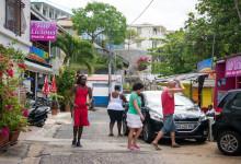 Gatuliv i Saint-Luce på Martinique
