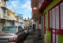 Huvudgatan i Saint-Luce, Martinique