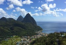 Vacker utsikt över Sanit Lucia