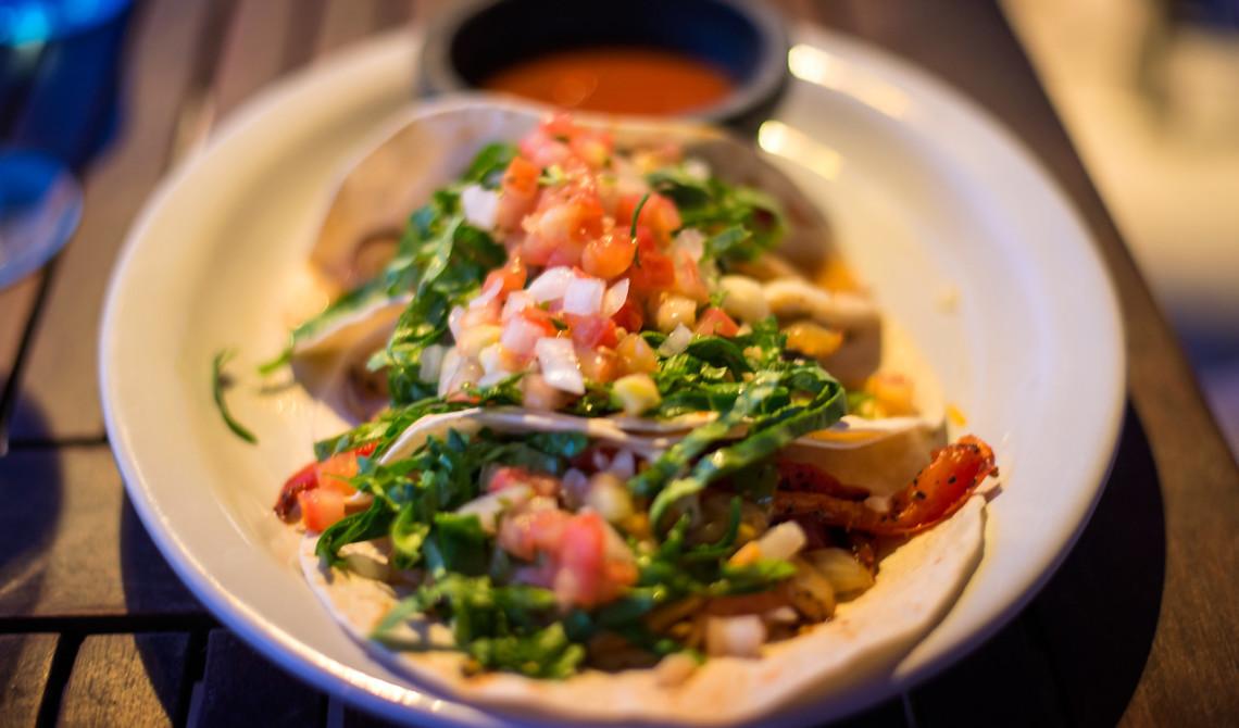 Tacos på Somewhere Café & Lounge, Turks & Caicos