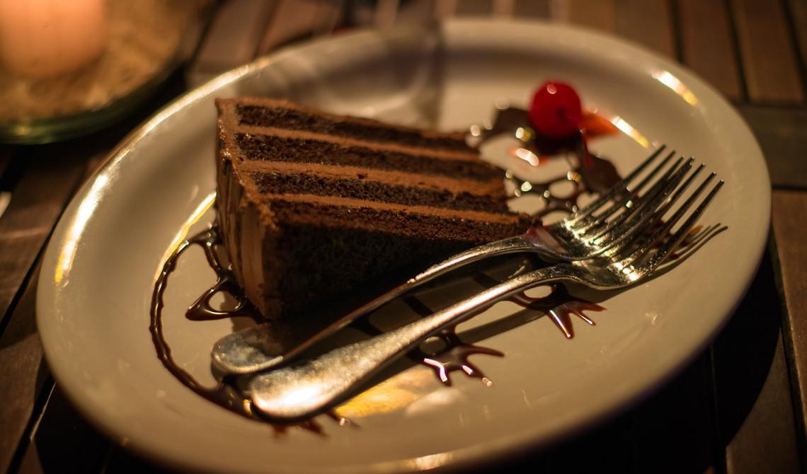 Dessert på Somewhere Café & Lounge, Turks & Caicos