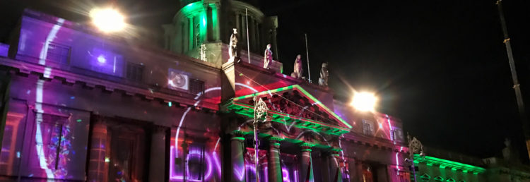 Sky Dance vid The Custom House i Dublin