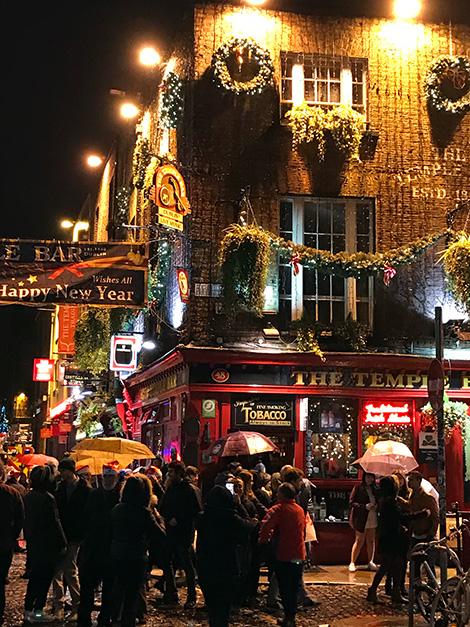 Nyårsfirande i hjärtat av Dublin