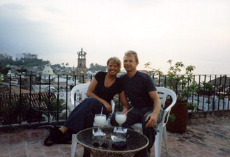 En drink på Chez Elena, Puerto Vallarta