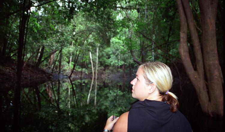 En morgon paddling innan vi lämnar Amazonas