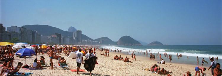 Copacabana Strand, Brasilien