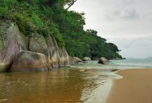 Praia das Palmas Beach, Ilha Grande Brasilien