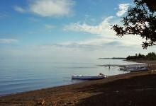 Kilibukbuk strand i Lovina, Bali