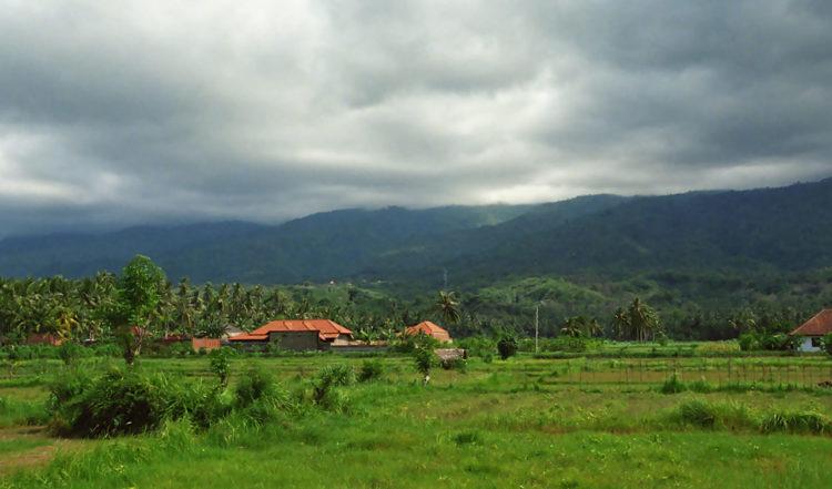 Landskap vid Lovina, Norra Bali