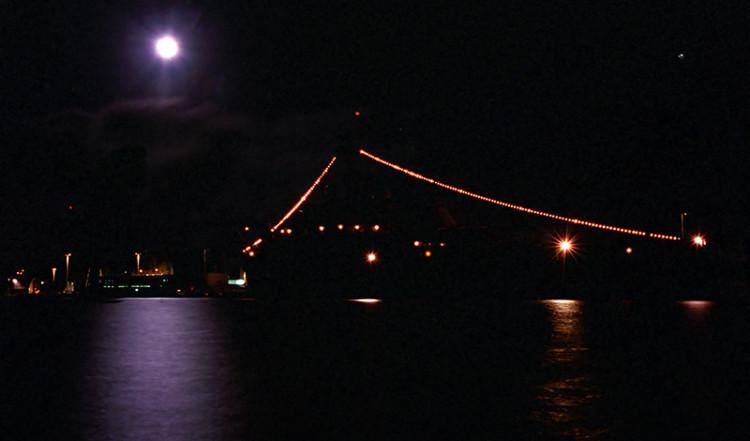 Wooloomooloo Bay by night, Sydney Australia