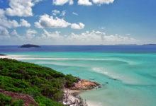 Whithaven beach utsikt ut mot Stilla Havet